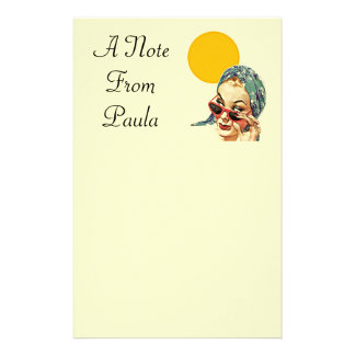 vintage Personalized Stationery A note from name