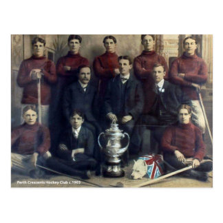 Vintage Perth Crescents Hockey Team 1903 Postcard