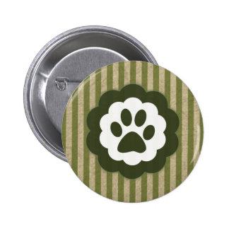 vintage pet paw buttons