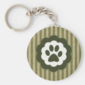 vintage pet paw key ring