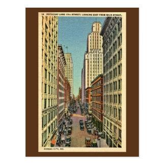 Vintage Petticoat Lane Kansas City, MO Postcard