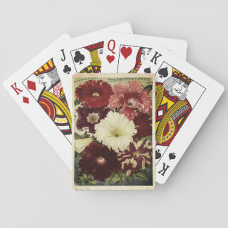 Vintage Petunia Flower Seed Packet Playing Cards