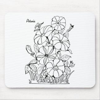 Vintage Petunia Flowers Mouse Pad