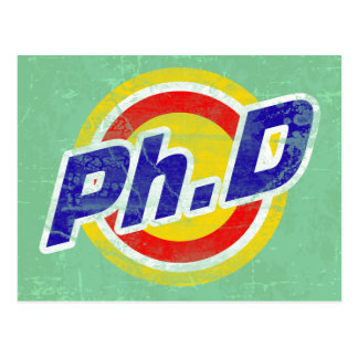 Vintage Ph.D or PhD or Doctor Of Philosophy Postcard