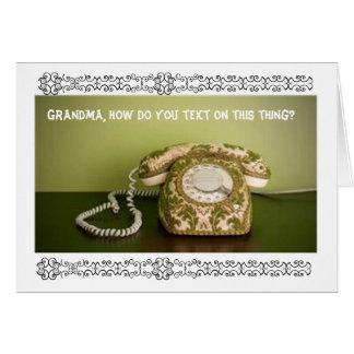 Vintage Phone - Texting Card