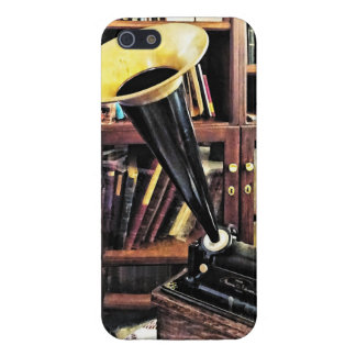 Vintage Phonograph In Library Circa 1880 iPhone 5 Cover