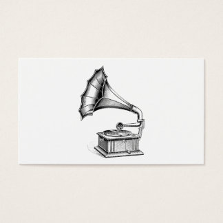 Vintage Phonograph Record Player Music Instrument Business Card