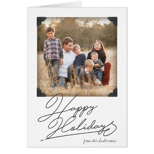 Vintage Photo Album Holiday Photo Card