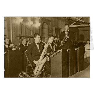 Vintage Photo Big Band Sax Card