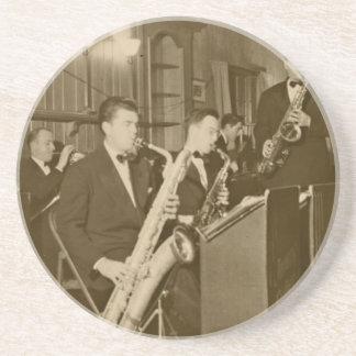 Vintage Photo Big Band Sax Coaster