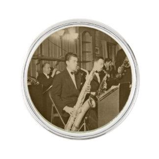 Vintage Photo Big Band Sax Lapel Pin