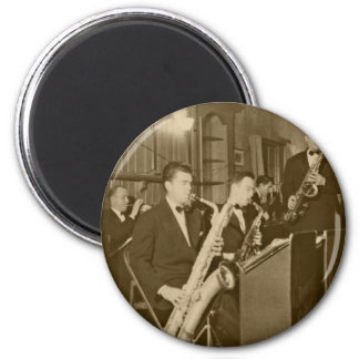 Vintage Photo Big Band Sax Magnet