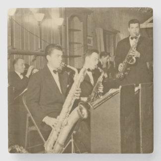 Vintage Photo Big Band Sax Stone Coaster