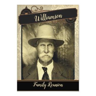 Vintage Photo Family Reunion Gathering Card