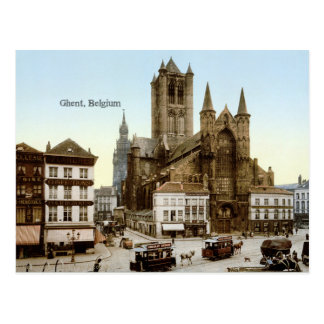Vintage photo: Ghent, Belgium Postcard