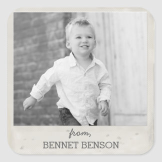 Vintage Photo Gift Tag Sticker