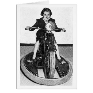 Vintage Photo - Girl on Cycle Card