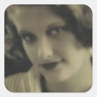 Vintage Photo Glamour Girl Sticker