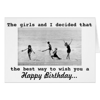 Vintage Photo Interpretive Dance Girls Birthday Card