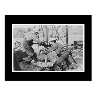 Vintage Photo Men Working Postcard
