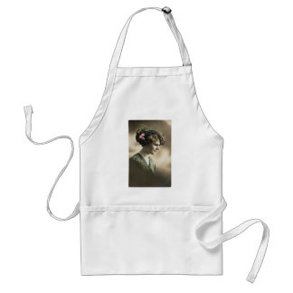 Vintage photo of lady from 1920's adult apron