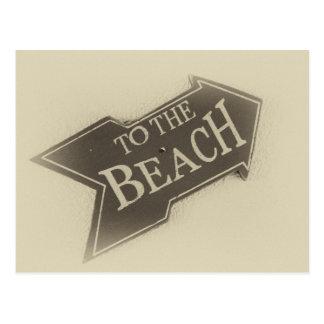 Vintage Photo To The Beach Arrow Postcard