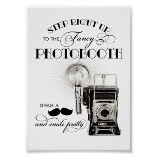 Vintage Photobooth Sign | Wedding Reception Print