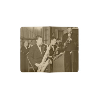 Vintage Photograh Big Band Sax Pocket Moleskine Notebook