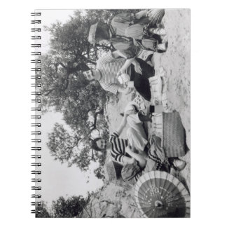 Vintage photograph Edwardian picnic on the beach Note Books