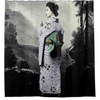 Vintage Photograph:  Geisha Girl Shower Curtain
