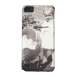 Vintage Photograph Little Girl w Baby Buggy iPod Touch (5th Generation) Covers
