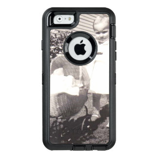 Vintage Photograph Little Girl w Baby Buggy OtterBox Defender iPhone Case