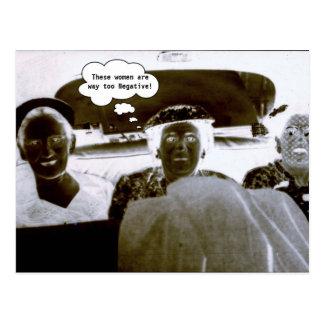 Vintage Photograph Negative Women Customize Text Postcard