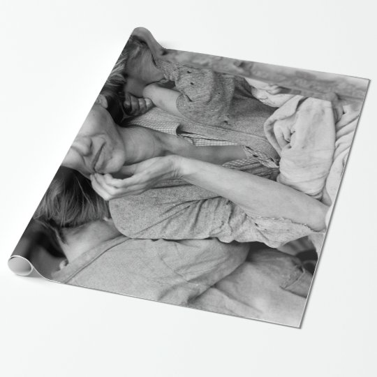 Vintage Photograph of Migrant Mother Wrapping Paper