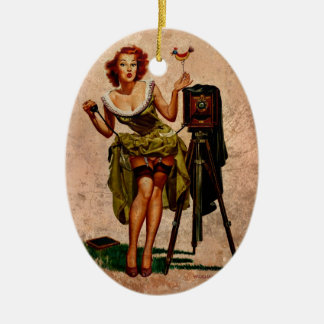 Vintage Photographer Ceramic Ornament