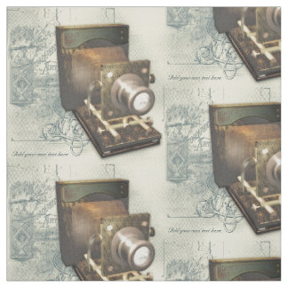 Vintage Photography Camera Illustration Fabric