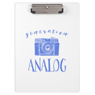Vintage Photography Funny Generation Analog Clipboard