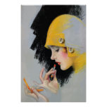 Vintage Photoplay Cover Art 1927 Poster