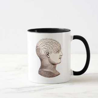 Vintage Phrenological Brain Sectional Coffee Mug