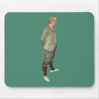 Vintage Phrenology Head Golfer Mouse Pad