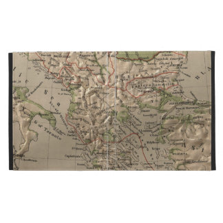 Vintage Physical Map of Greece (1880) iPad Case