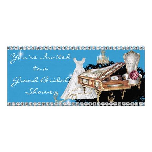 Vintage PIANO Diamond Bridal Shower Invitation