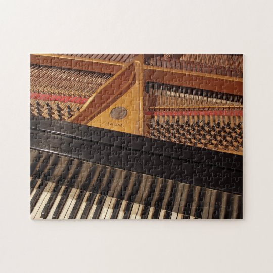 Vintage Piano Keyboard and Pins Puzzle