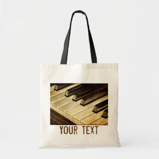 Vintage Piano Keys Tote Bag
