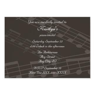 Vintage Piano Music Recital Card