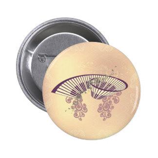 Vintage, piano with elegant, decorative floral ele 6 cm round badge