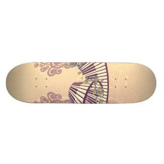 Vintage, piano with elegant, decorative floral ele skateboard decks