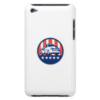 Vintage Pick Up Truck USA Flag Circle Retro Barely There iPod Covers