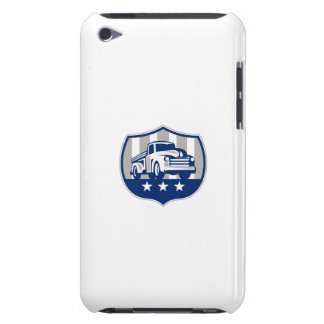 Vintage Pick Up Truck USA Flag Crest Retro iPod Touch Case