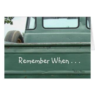 vintage Pickup Truck2 #1- customise Card